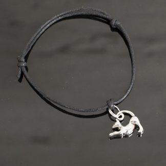 bransoletka z kotem sznurkowa